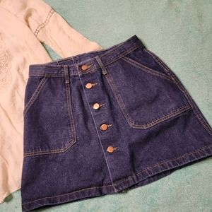 YIMEIXUAN Jeans denim skirt